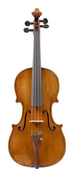 Front of a violin by Riccardo Genovese, Montiglio, 1926