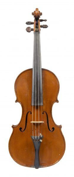 Front of a violin by Romeo Antoniazzi, Milan, c1910