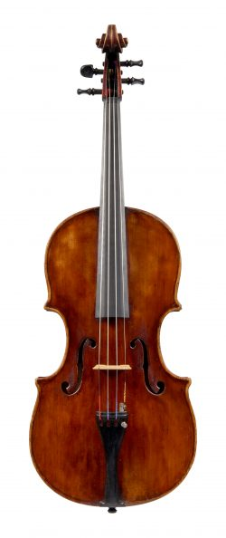 Front of a viola by Romolo Parmeggiani, Modena, 1921