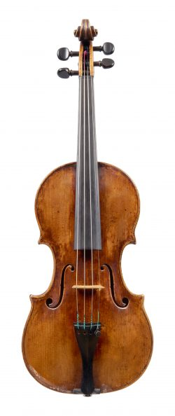 Front of a violin by Santo Serafin, Venice, 1732