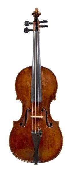 Front of a violin by Sebastian Dallinger, Vienna, 1802