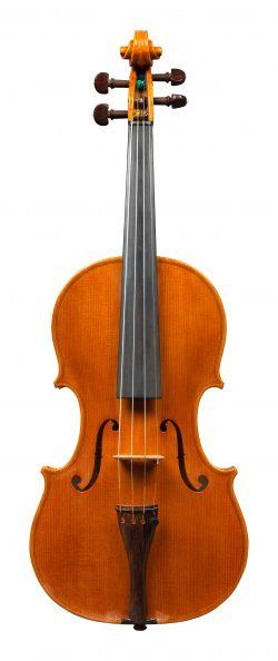 front of a violin by Sesto Rocchi, San Polo d'Enza, 1973
