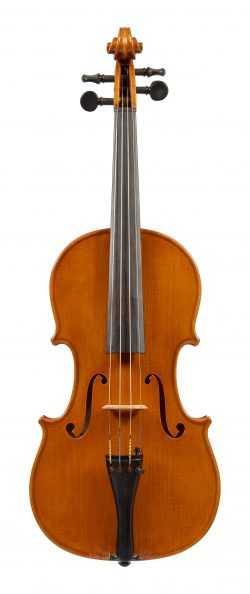 Front of a violin by Simeone Morassi, Cremona, 1988