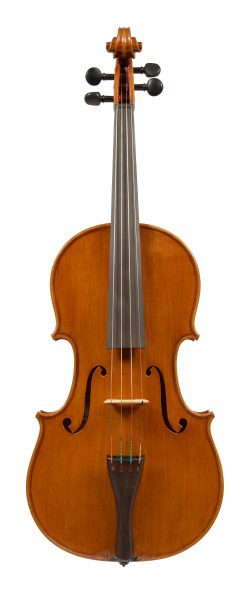 Front of a viola by Simeone Morassi, Cremona, 1989