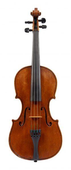 Front of a violin by Stefano Scarampella, Mantua, 1910