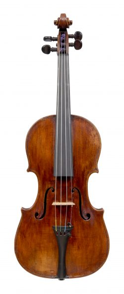 Front of a violin by Stefano Scarampella, Mantua, circa 1895