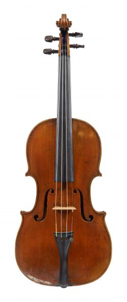 Front of a violin by Thomas Perry, Dublin, c1900