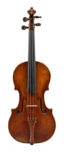 Front of a violin by Tomaso Eberle, naples, c1775