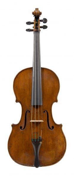 Front of a viola by Tomaso Eberle, Naples, circa 1780