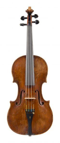 Front of a violin by Tomaso Eberle, Naples, circa 1760