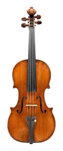 Front of a violin by Tomasso Balestrieri, Mantua, 1788, Ex-Albert Caressa