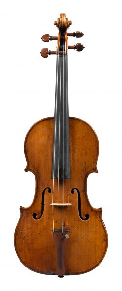 Front of a violin by Tomasso Balestrieri, Mantua, 1792