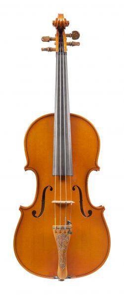 Front of a violin by Umberto Lanaro, Padua, 1976