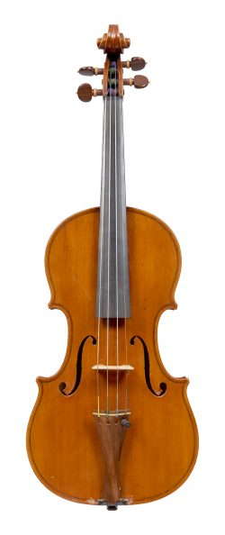 Front of a violin by Vincenzo Cavani, Modena, circa 1940