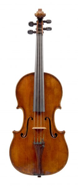 Front of a violin by Vincenzo Panormo, London, circa 1810