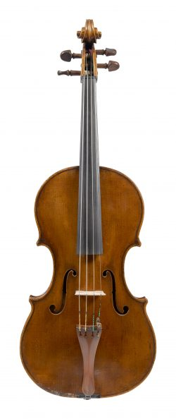 Front of a viola by Voller Brothers, London, circa 1930