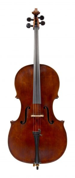 Front of a cello by William Forster, London, 1801