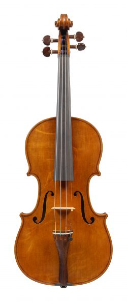 Front of a violin by William Luff, London, 1980