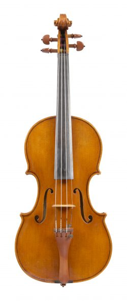 Front of a violin by William Luff, London, 1991