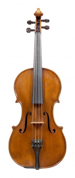 Front of a viola by William Tarr, Manchester, 1885
