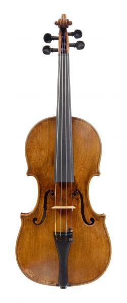 Front of a violin by Zosimo Bergonzi, Cremona, circa 1770