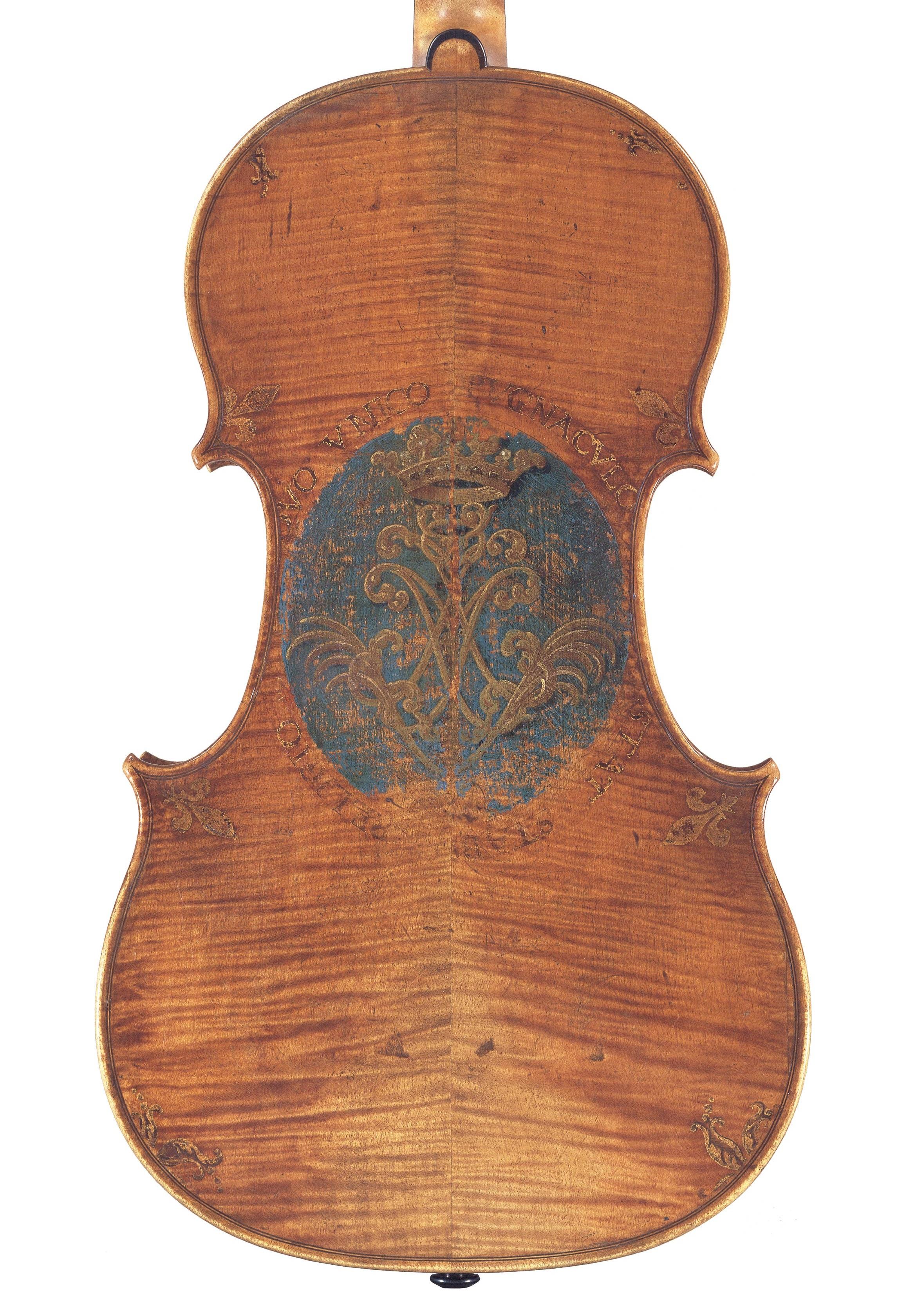 Back of a viola by Andrea Amati, Cremona, circa 1570