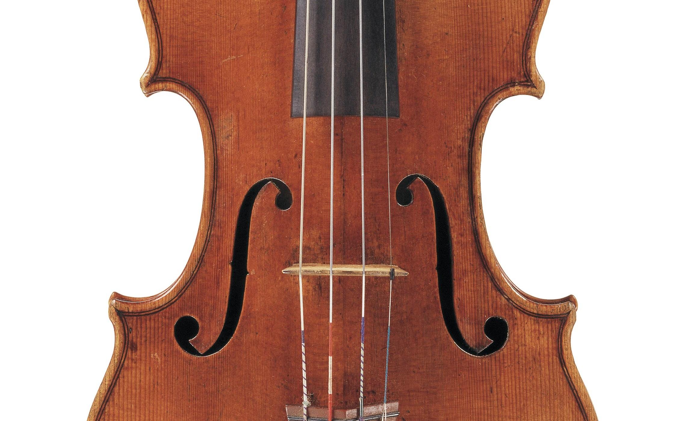 Front of the Dancla violin by Antonio Stradivari, Cremona, 1703