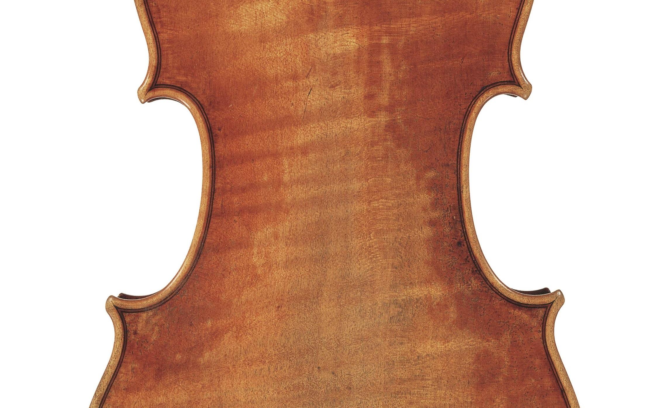 Back of the Dancla violin by Antonio Stradivari, Cremona, 1703