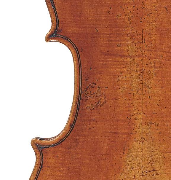 Back of a violin by Giovanni Rota, Cremona, circa 1800