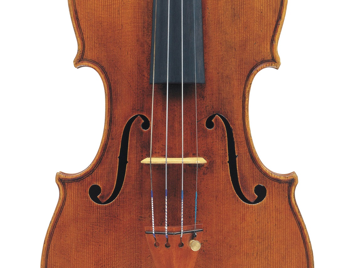 Front of a violin by Giuseppe Rocca, Genoa, 1850