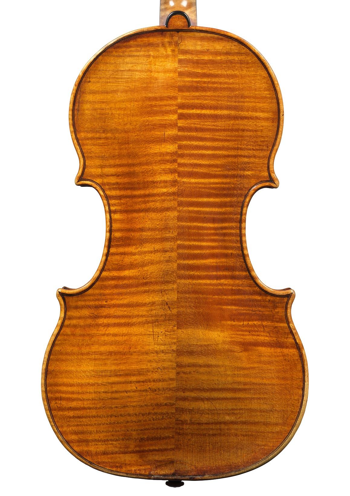 Back of a violin by Nicolo Amati, Cremona, 1650
