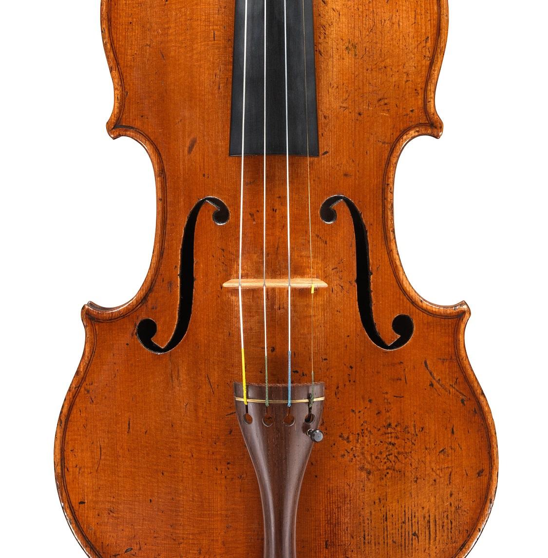 Front of a violin by Nicolo Gagliano, Naples, 1758