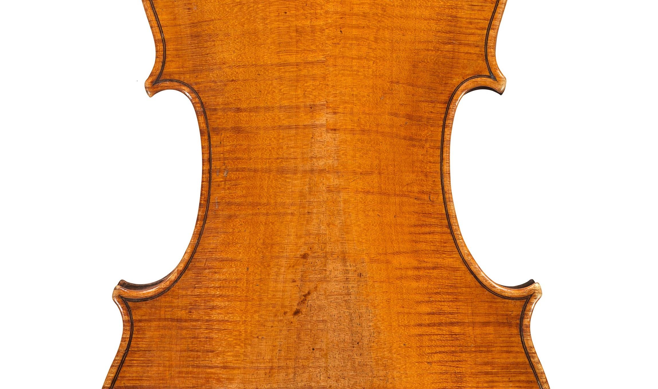 Back of a violin by Antonio Stradivari, ex-Sachs, 1667