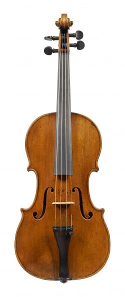 Front of a violin by Bernard Simon Fendt, London, c1830