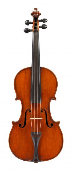 Front of a violin by David Stirrat, Edinburgh, 1819