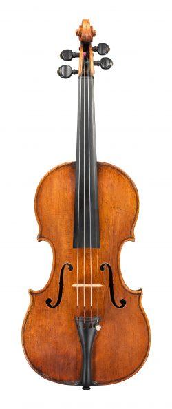 Front of a violin by Gaetano Pasta, Brescia, c1750