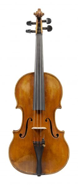 Front of a violin by Giovanni Pistucci, Naples, c1910