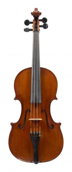 Front of a violin by Giovanni Schwarz, Venice, 1927