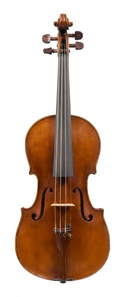 Front of a violin by Giuseppe Dollenz, Trieste, 1879