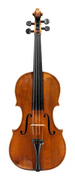 Front of a violin by Giuseppe Guarneri del Gesù, Cremona, c1733, Sleeping Beauty