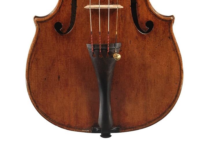 Front of the Bohrer violin by Guarneri del Gesu, 1739