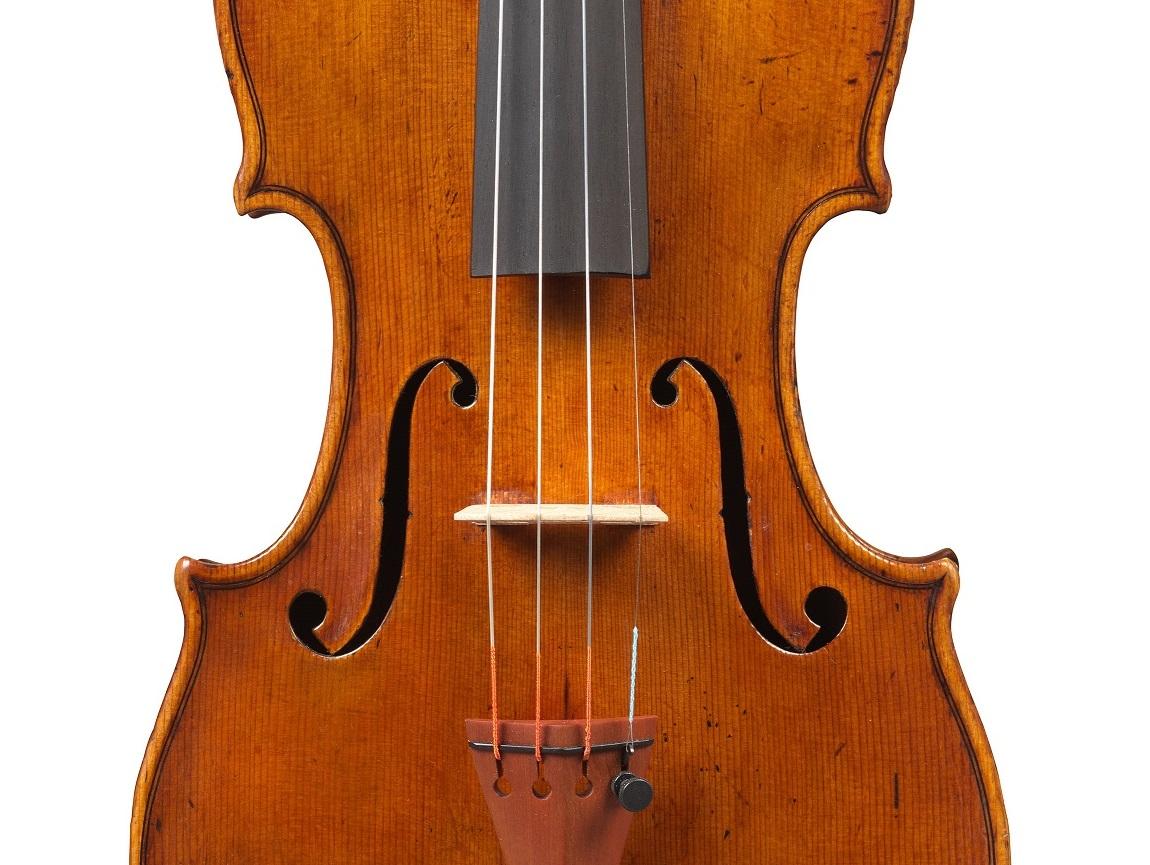 Front of a violin by Giuseppe Rocca, Genoa, 1832, ex-Campoli