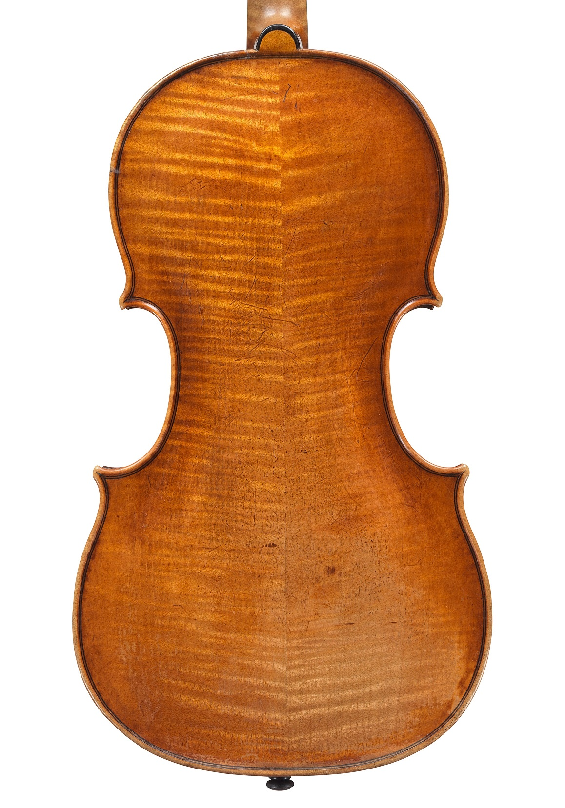 Back of 'The King' violin by Jacob Stainer, 1659
