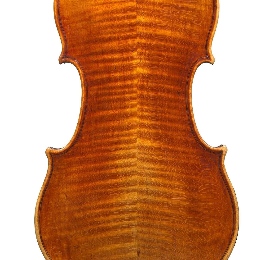 Back of a violin by Matteo Goffriller, circa 1700
