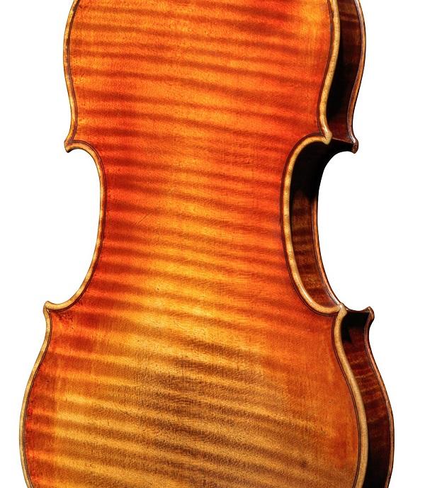 Back of a violin by Nicolas Lupot, Paris, 1810