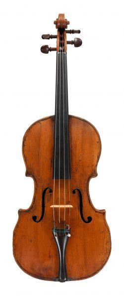 Front of a viola by Pietro Antonio Testore, Milan, 1764