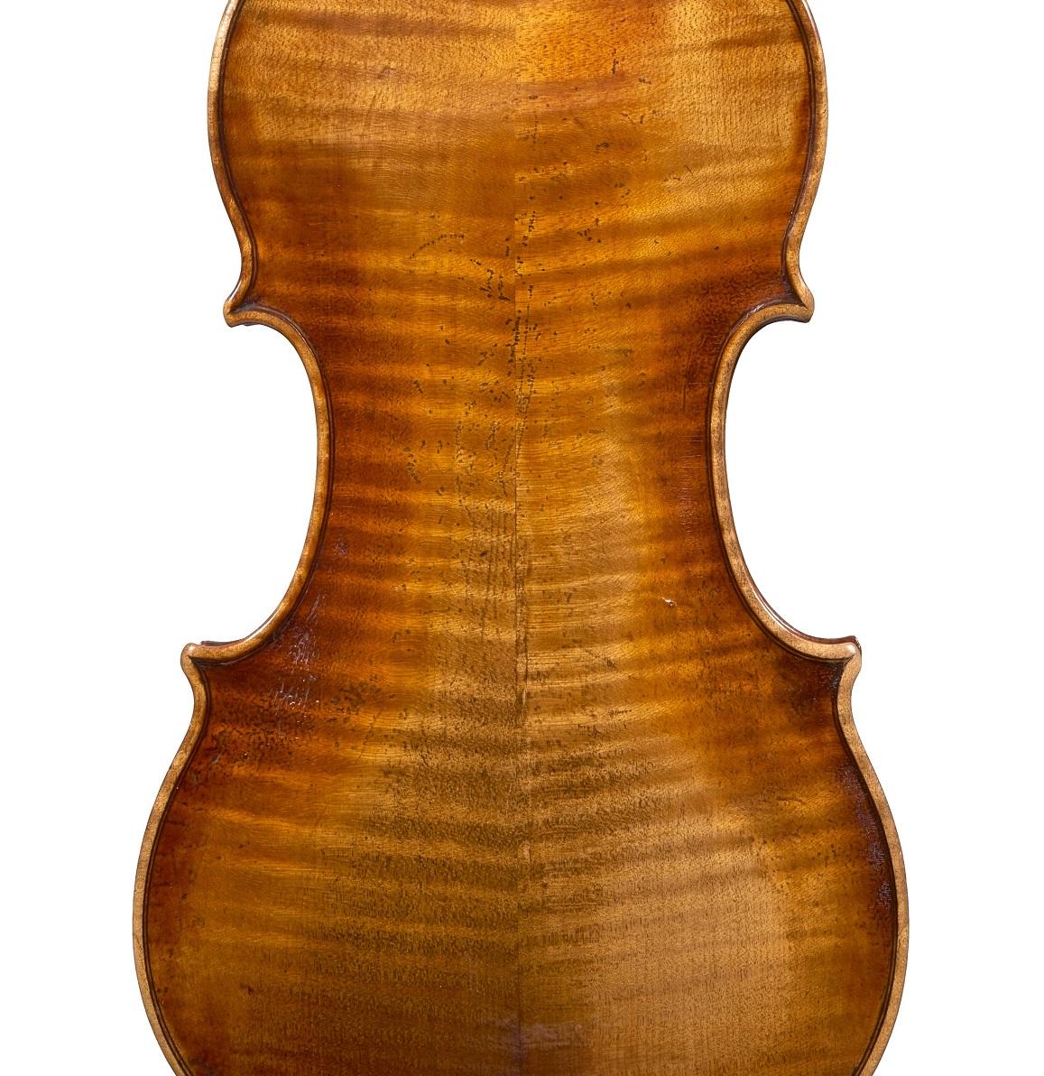 Back of a violin by David Tecchler, circa 1720
