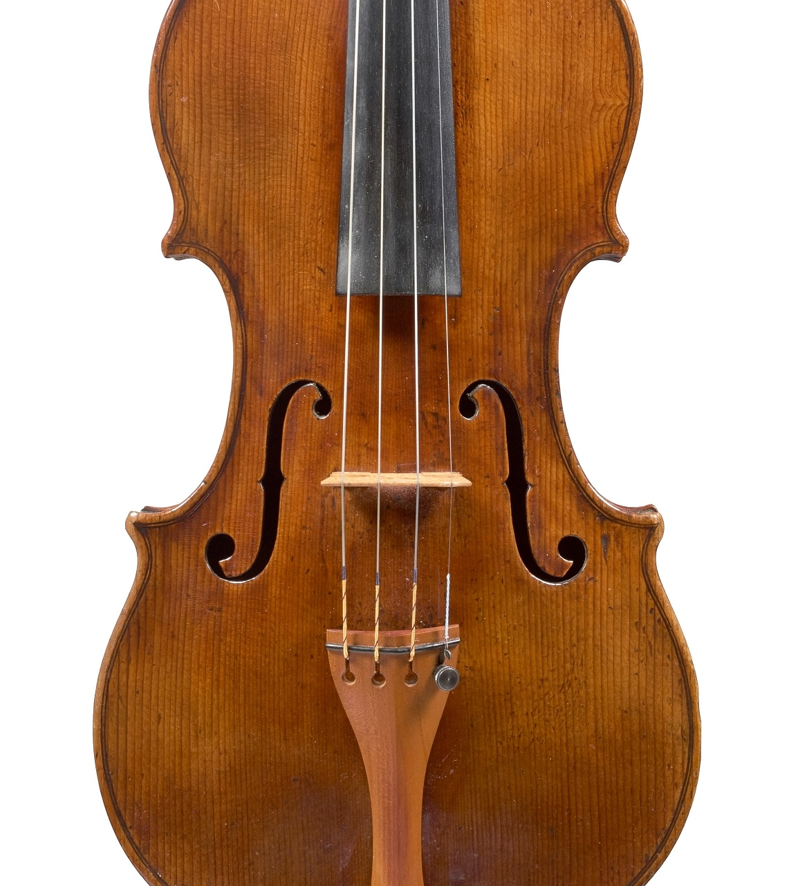 Front of a violin by David Tecchler, circa 1720