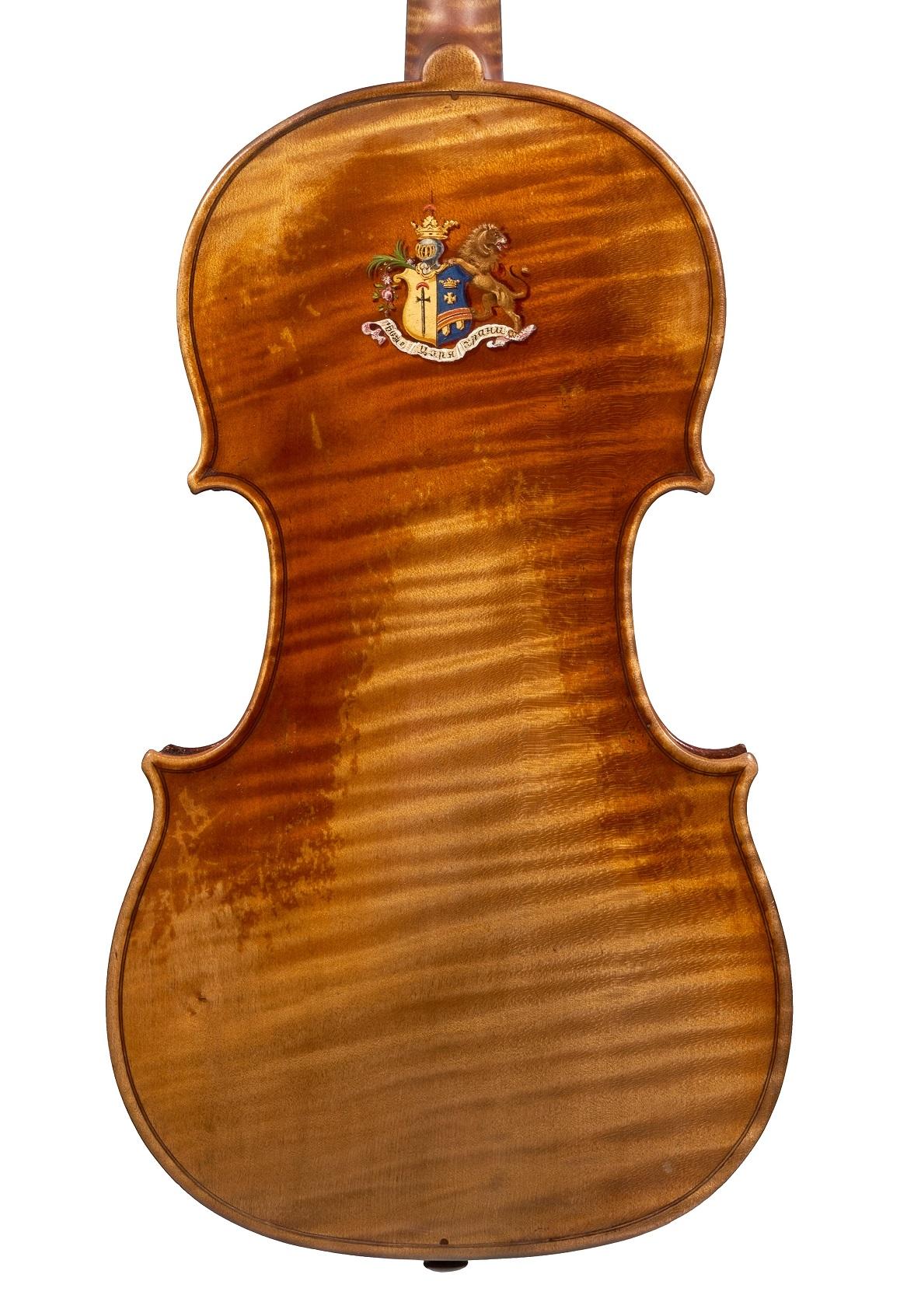 Back of the Tsar Nicholas violin by J.B. Vuillaume, 1841