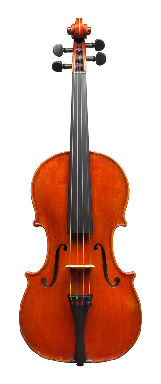 Front of a violin by Annibale Fagnola, Turin, 1923